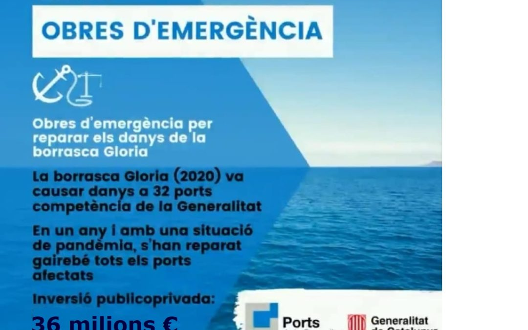 OBRES D'EMERGÈNCIA PER REPARAR ELS DANYS DE LA BORRASCA GLORIA
