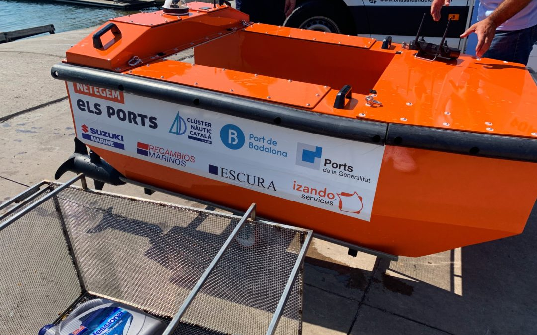 Marina Badalona, primer port a Catalunya en posar en marxa un sistema de recollida de residus amb drons aquàtics